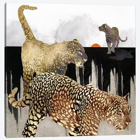 Minimal Leopards Canvas Print #SFD256} by SpaceFrog Designs Canvas Print