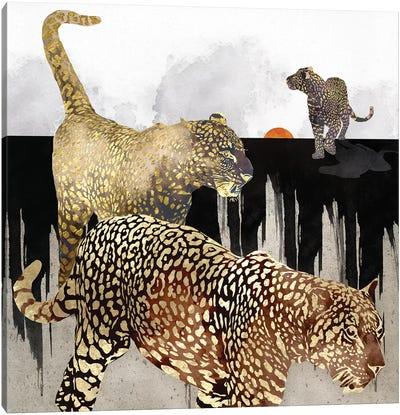 Minimal Leopards Canvas Art Print