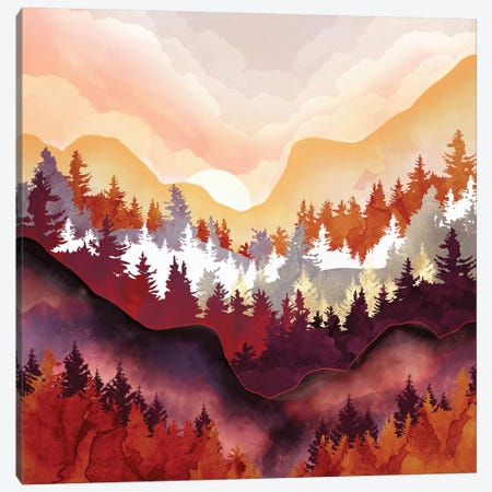 Amber Forest 3-Piece Canvas #SFD257} by SpaceFrog Designs Canvas Print