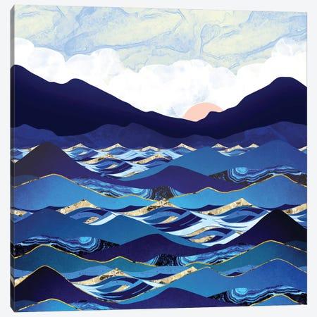 Ocean Blue Canvas Print #SFD262} by SpaceFrog Designs Canvas Art Print
