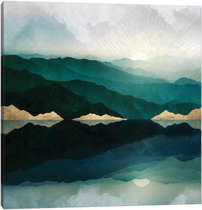 Waters Edge Reflection Canvas Art Print
