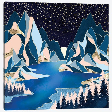 Star Peaks Canvas Print #SFD267} by SpaceFrog Designs Canvas Wall Art