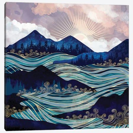 Ocean Sunrise Canvas Print #SFD273} by SpaceFrog Designs Canvas Art