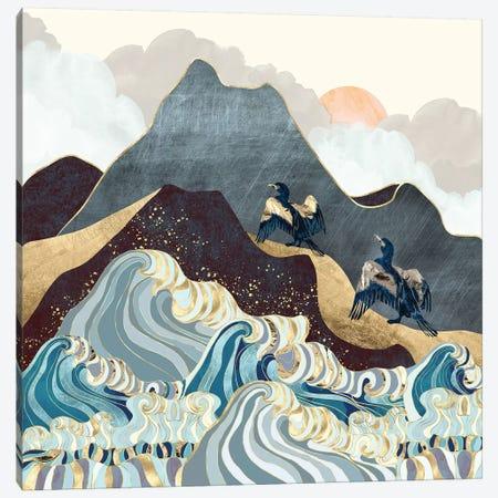Metallic Waves Canvas Print #SFD275} by SpaceFrog Designs Art Print
