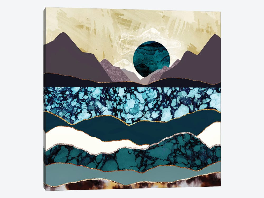 Desert Lake by SpaceFrog Designs 1-piece Canvas Artwork