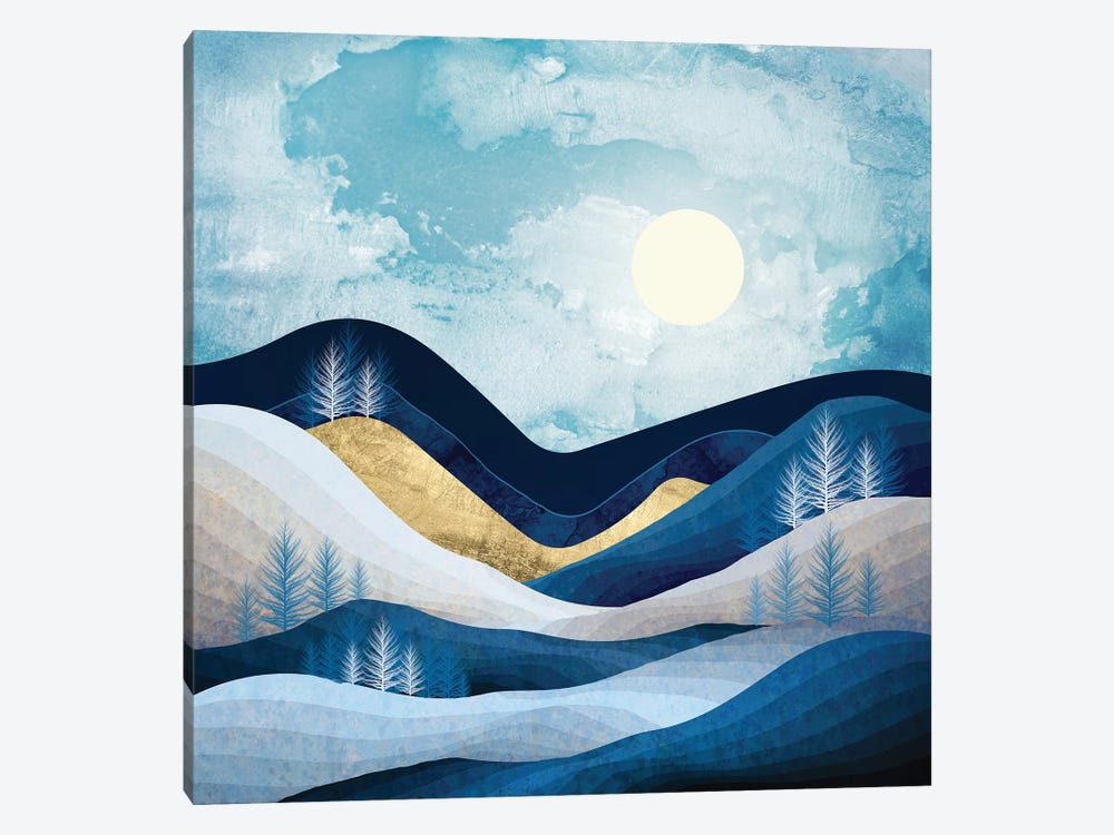 Moonlit Hills by SpaceFrog Designs 1-piece Canvas Wall Art