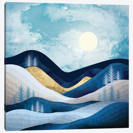 Moonlit Hills Canvas Print #SFD288} by SpaceFrog Designs Canvas Art Print