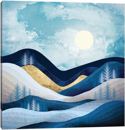 Moonlit Hills Canvas Art Print