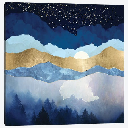 Midnight Forest Canvas Print #SFD291} by SpaceFrog Designs Canvas Art