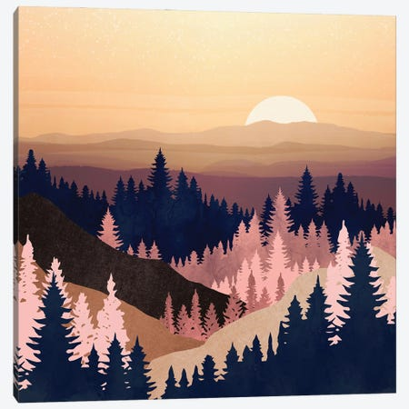 Summer Dusk Canvas Print #SFD293} by SpaceFrog Designs Canvas Art