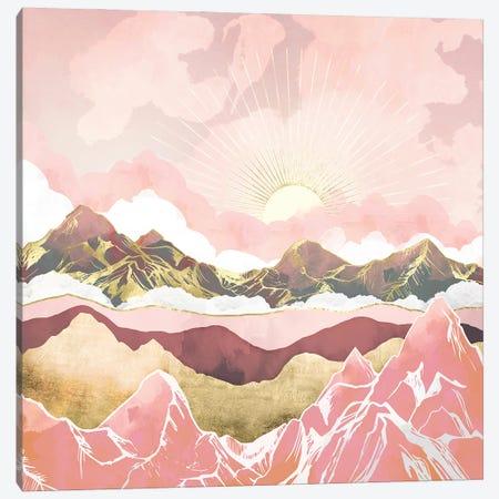 Blush Summer Sunrise Canvas Print #SFD296} by SpaceFrog Designs Canvas Art Print