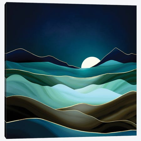 Moonlit Vista Canvas Print #SFD297} by SpaceFrog Designs Canvas Art Print