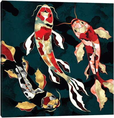 Metallic Koi Canvas Art Print