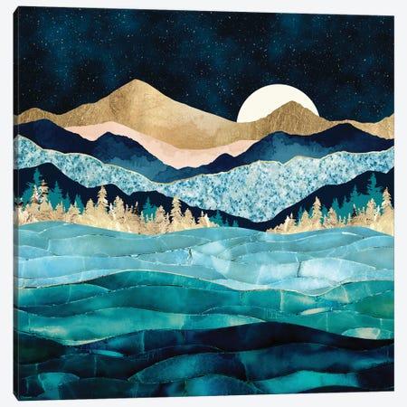 Midnight Ocean Canvas Print #SFD299} by SpaceFrog Designs Canvas Artwork