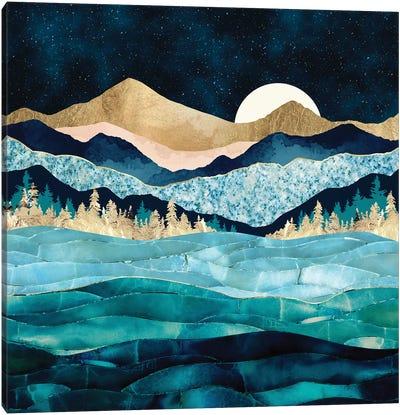 Midnight Ocean Canvas Art Print