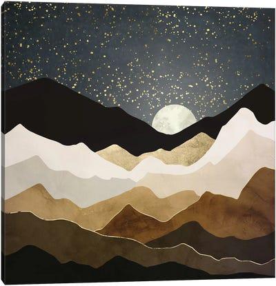 Golden Stars Canvas Art Print