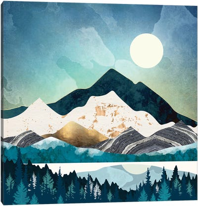 Evening Forest Canvas Art Print