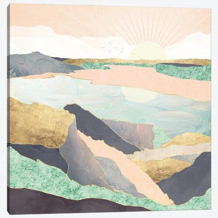 Sunrise Beach Canvas Print #SFD304} by SpaceFrog Designs Canvas Print