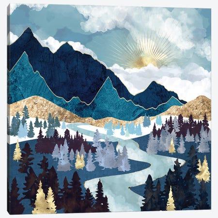 Valley Sunrise Canvas Print #SFD307} by SpaceFrog Designs Art Print
