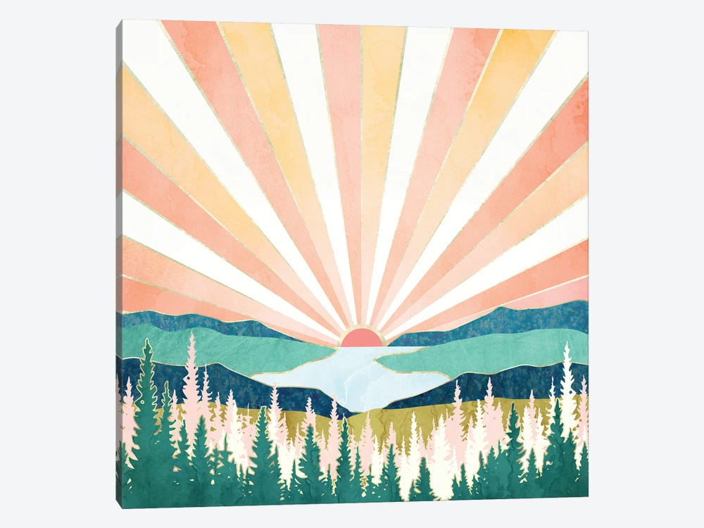 Summer Sunset by SpaceFrog Designs 1-piece Canvas Wall Art
