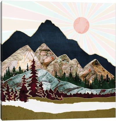 Retro Autumn Vista Canvas Art Print