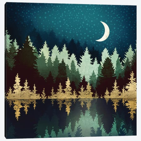 Star Forest Reflection Canvas Print #SFD313} by SpaceFrog Designs Art Print