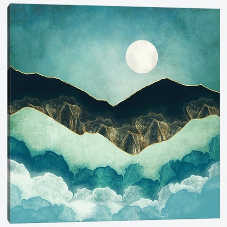 Moon Mist Canvas Print #SFD315} by SpaceFrog Designs Canvas Wall Art