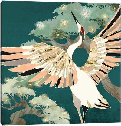 Golden Crane Canvas Art Print