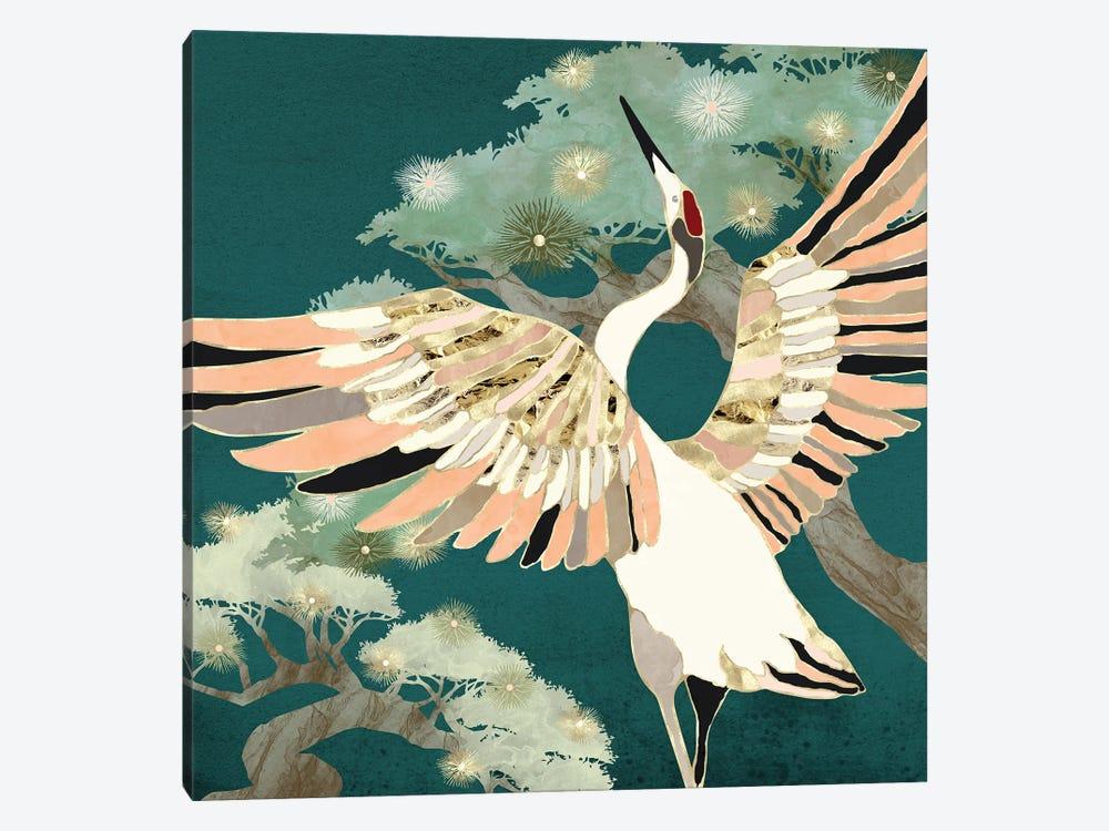 Golden Crane by SpaceFrog Designs 1-piece Art Print