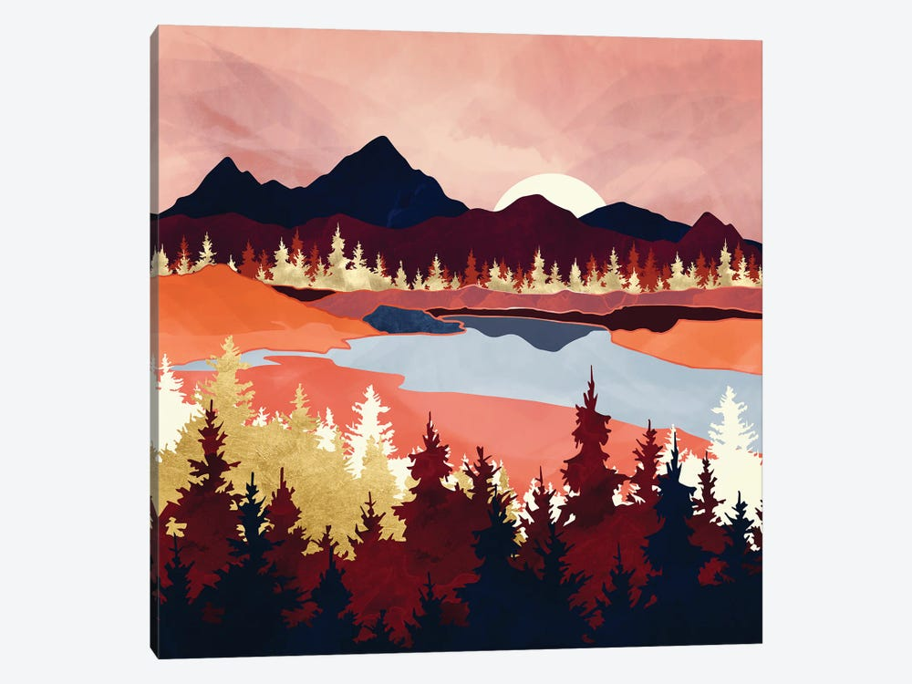 Grapefruit Sky by SpaceFrog Designs 1-piece Canvas Wall Art