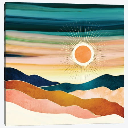 Jewel Dusk Canvas Print #SFD328} by SpaceFrog Designs Canvas Artwork