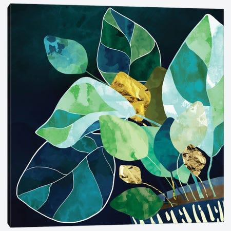 Indigo Plant I Canvas Print #SFD329} by SpaceFrog Designs Canvas Art