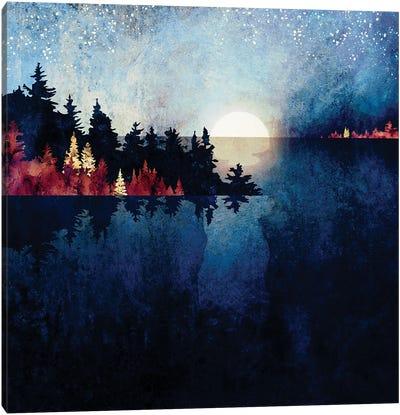Autumn Moon Reflection Canvas Art Print
