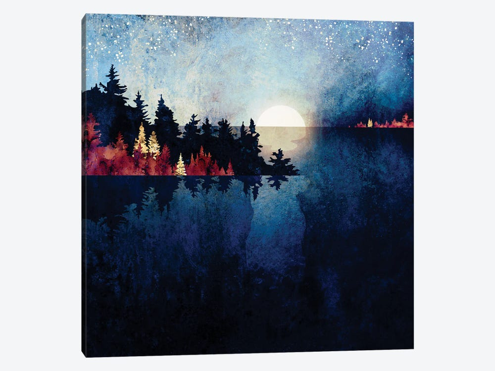Autumn Moon Reflection by SpaceFrog Designs 1-piece Canvas Art Print