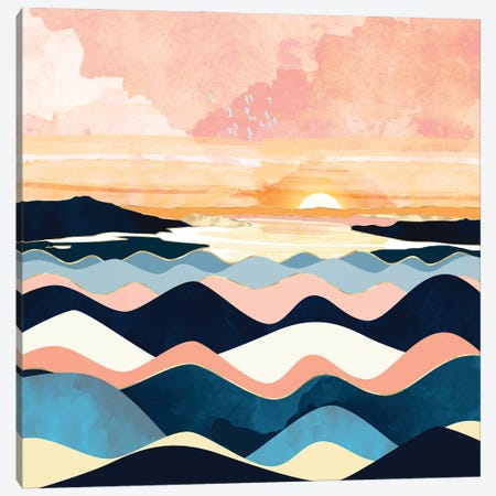 Autumn Ocean Canvas Print #SFD336} by SpaceFrog Designs Canvas Art