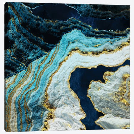 Aerial Ocean Abstract Canvas Print #SFD338} by SpaceFrog Designs Art Print