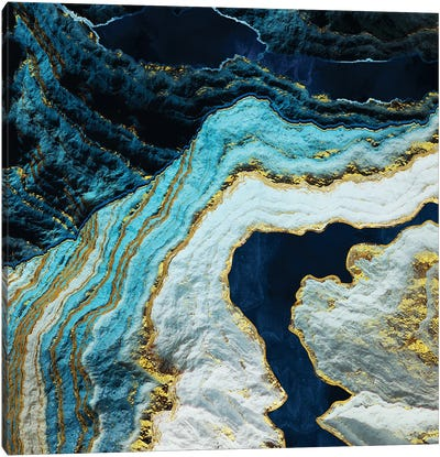 Aerial Ocean Abstract Canvas Art Print