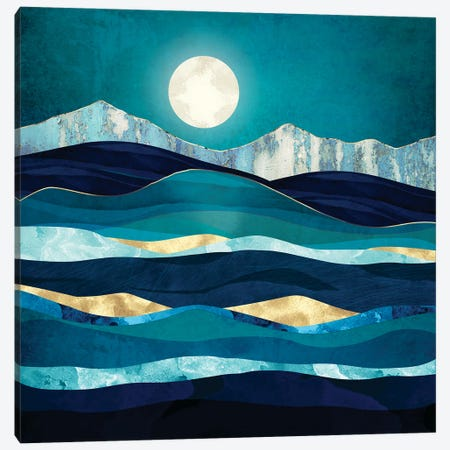 Winter Sea Canvas Print #SFD340} by SpaceFrog Designs Canvas Art