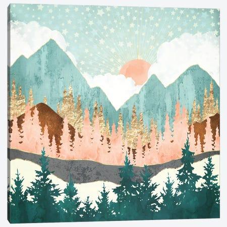 Winter Forest Vista Canvas Print #SFD343} by SpaceFrog Designs Canvas Artwork