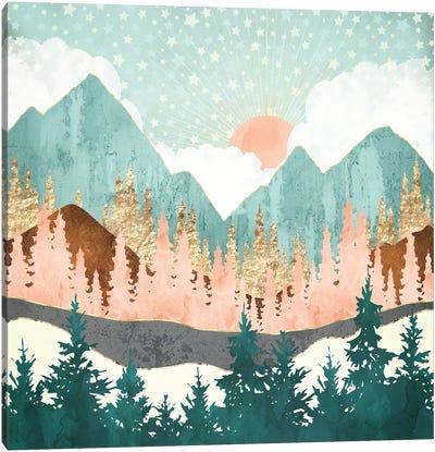 Winter Forest Vista Canvas Art Print
