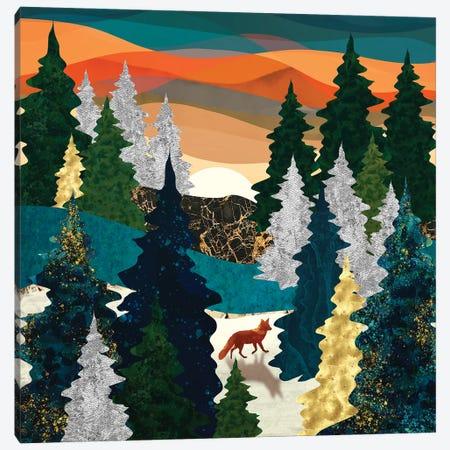 Amber Fox Canvas Print #SFD344} by SpaceFrog Designs Canvas Art Print
