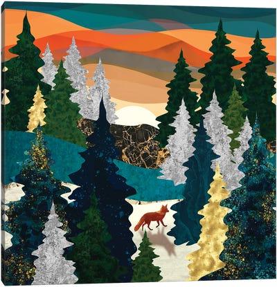 Amber Fox Canvas Art Print