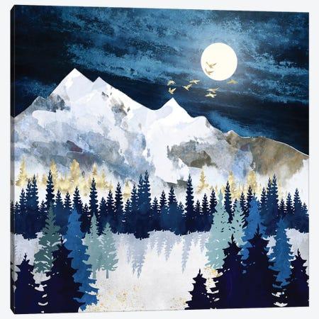 Moonlit Snow Canvas Print #SFD346} by SpaceFrog Designs Canvas Print