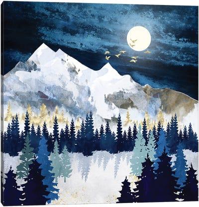 Moonlit Snow Canvas Art Print
