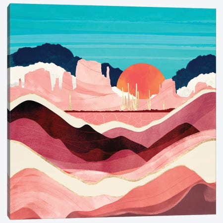 Sunset Desert Canvas Print #SFD347} by SpaceFrog Designs Art Print