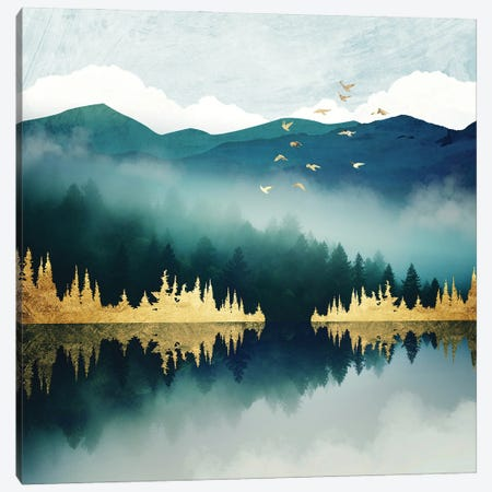 Mist Reflection Canvas Print #SFD350} by SpaceFrog Designs Canvas Print