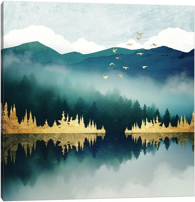 Mist Reflection Canvas Art Print