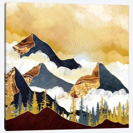 Misty Peaks Canvas Print #SFD353} by SpaceFrog Designs Canvas Art Print