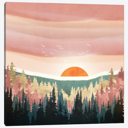 Dusk Calm Canvas Print #SFD357} by SpaceFrog Designs Canvas Artwork