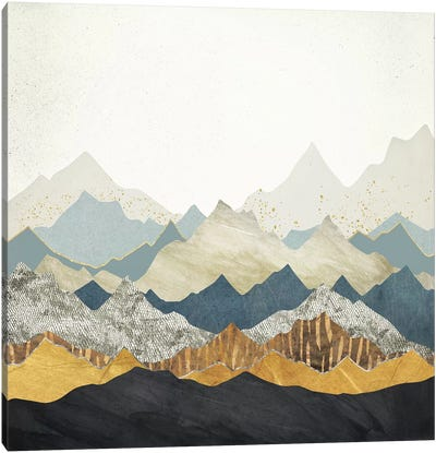Distant Peaks Canvas Art Print
